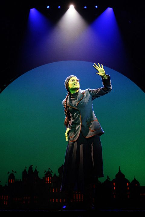 melbourne, australia   july 11  actress amanda harrison performs as elphaba, the wicked witch during a photo call for wicked at the regent on july 11, 2008 in melbourne, australia  photo by kristian dowlinggetty images