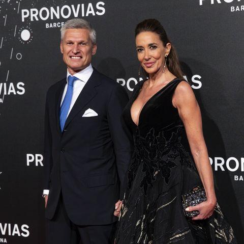 Elsa Anka y Víctor Prat juntos en la Gaudi Bridal Fashion Week.
