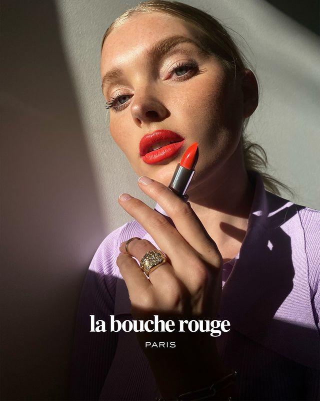 elsa hosk la bouche rouge makeup
