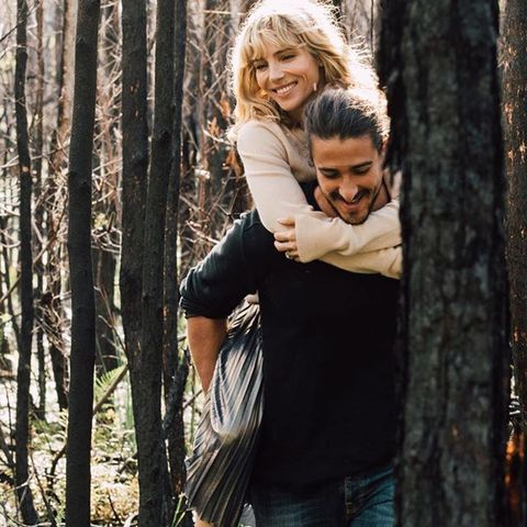 People in nature, Tree, Photograph, People, Natural environment, Beauty, Forest, Woody plant, Hug, Photography,