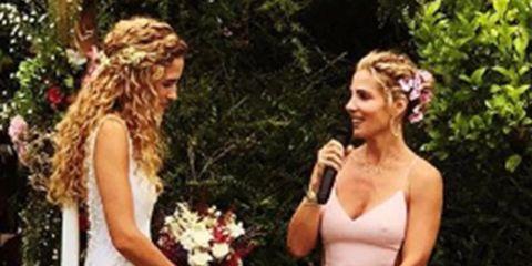 Elsa Pataky, todos los detalles del vestido que llevó en la boda de su hermano, Cristian Prieto, y Silvia Serra.