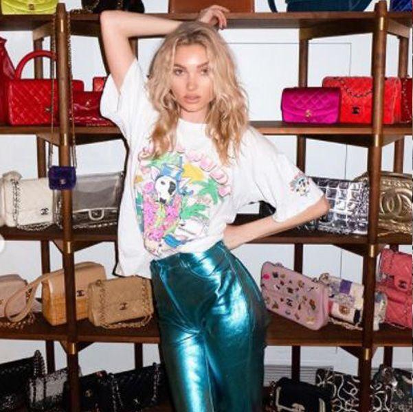 love♡  エルザ・ホスクの私物バッグ&スニーカーコレクション