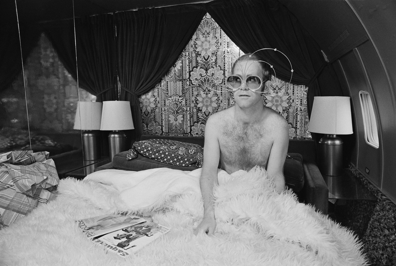 elton John in bed