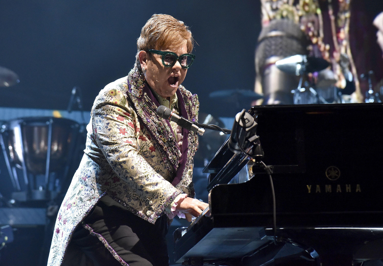 Elton John performs during his Farewell Yellow Brick Road tour in Sacramento, California on January 16, 2019.