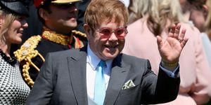 Elton John at the royal wedding
