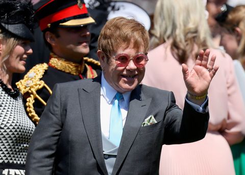 Elton John Performs At The Wedding Reception Lunch