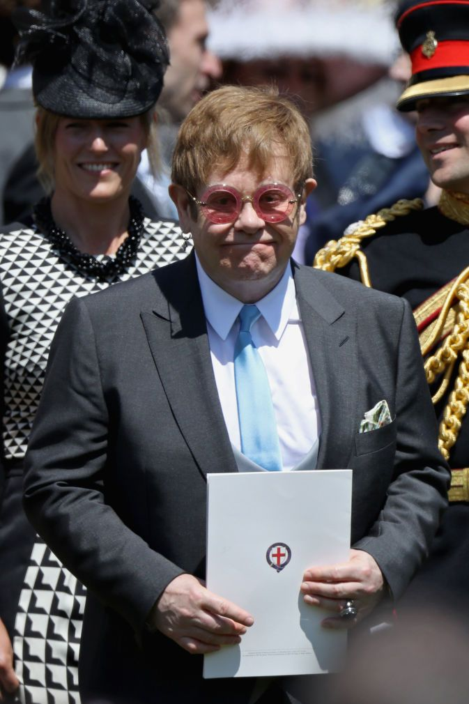Elton John at the royal wedding.