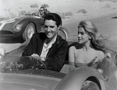 elvis presley and ann margret in stockcar