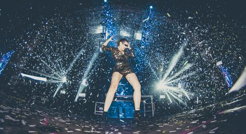 Water, Performance, Fun, Dancer, Performance art, Confetti, Electric blue, Photography, Performing arts, Stage,