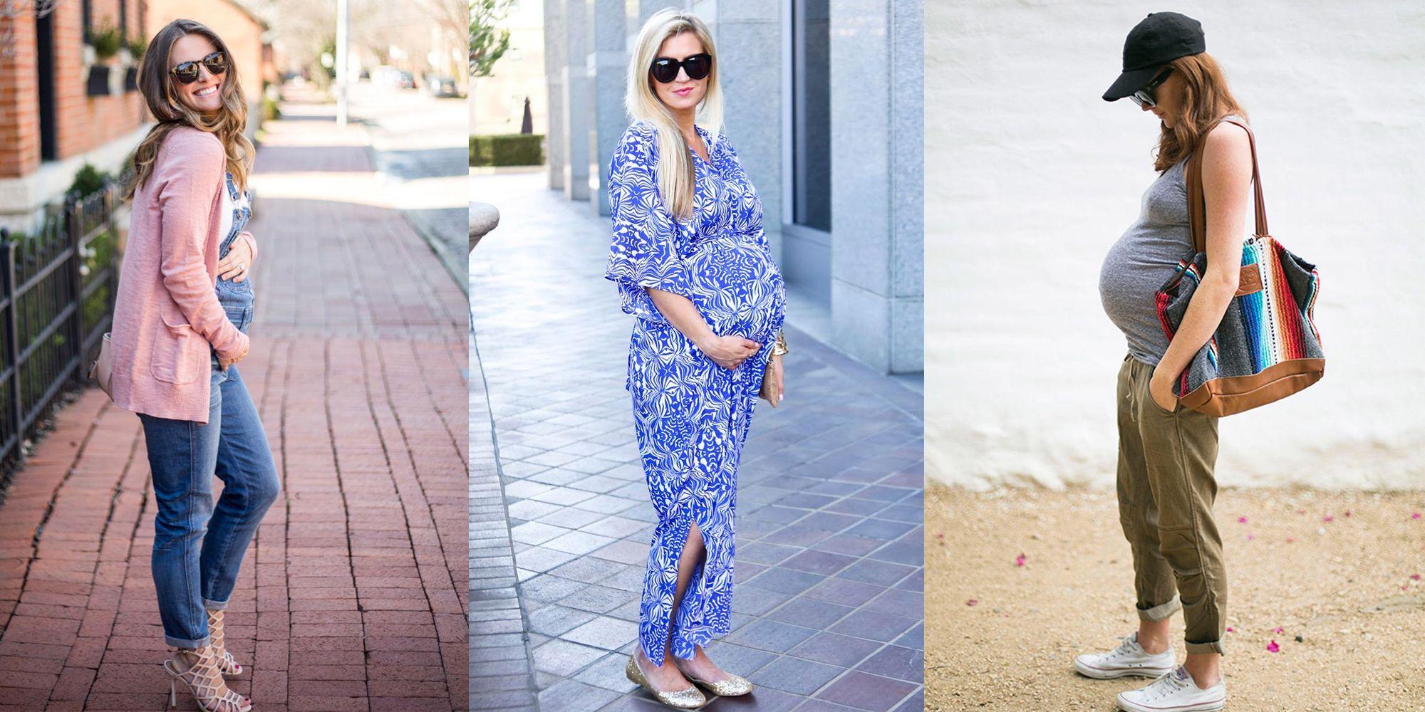 27d45022cba Looks de embarazada  9 meses con estilo - Cómo vestir durante el embarazo