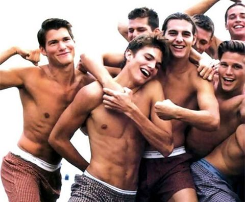 Barechested, Muscle, Friendship, Fun, Underpants, Chest, Abdomen, Smile, Photography, Briefs,