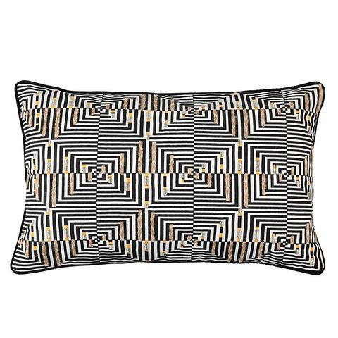 Embroidered cushion, £9, Oliver Bonas