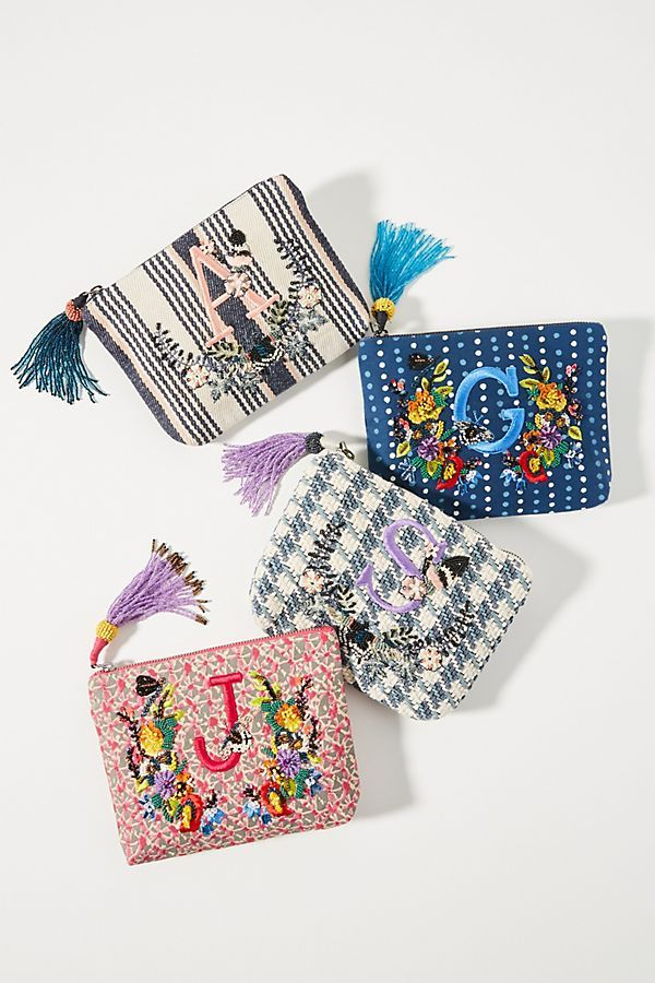 Embroidered Monogram Pouch Stocking Stuffers