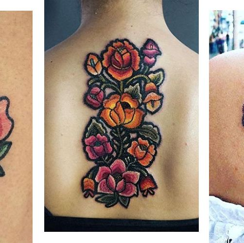 embroidery tattoos
