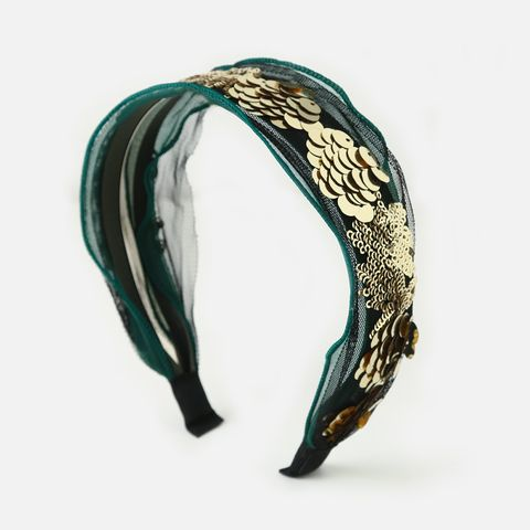 Orelia EMERALD SEQUIN EMBELLISHED HEADBAND