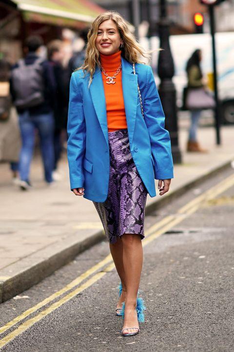 エミリー・シンドレフ(Emili Sindlev)Street Style - LFW February 2020