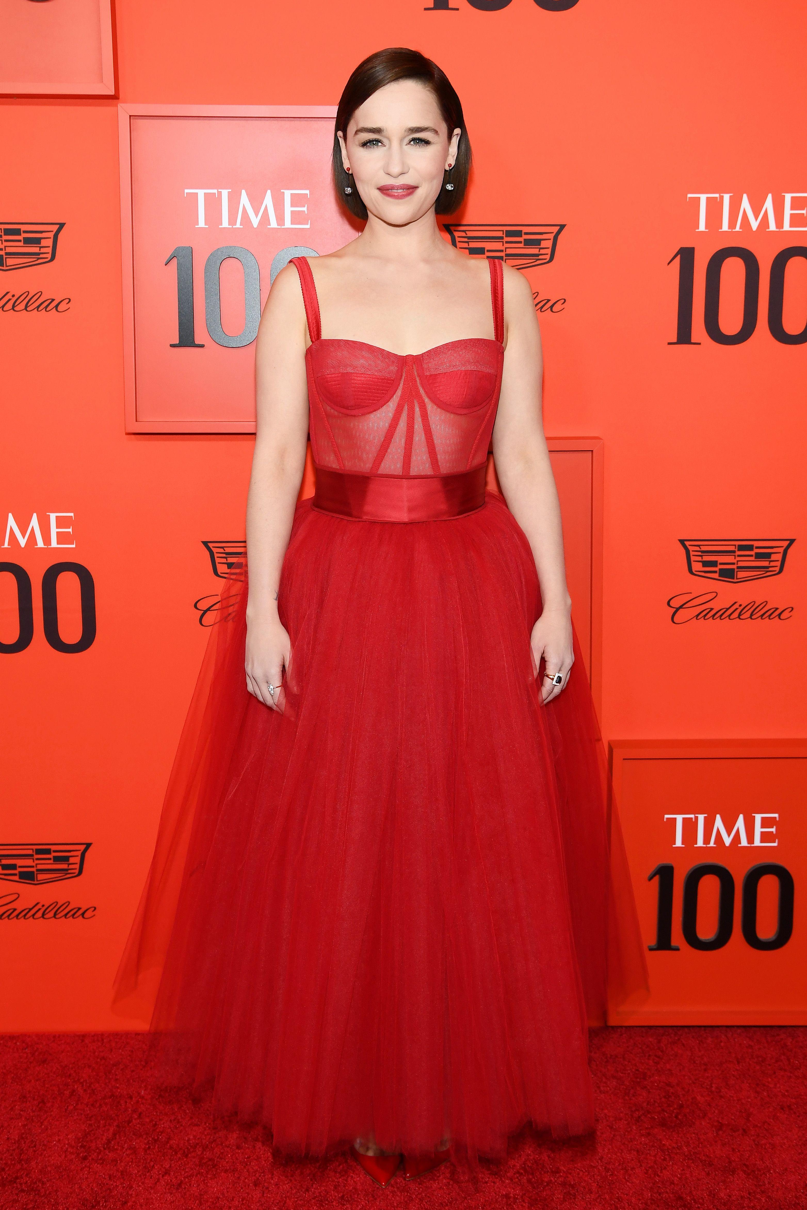 Emilia Clarkeen la alfombra roja de la gala Time 100 2019