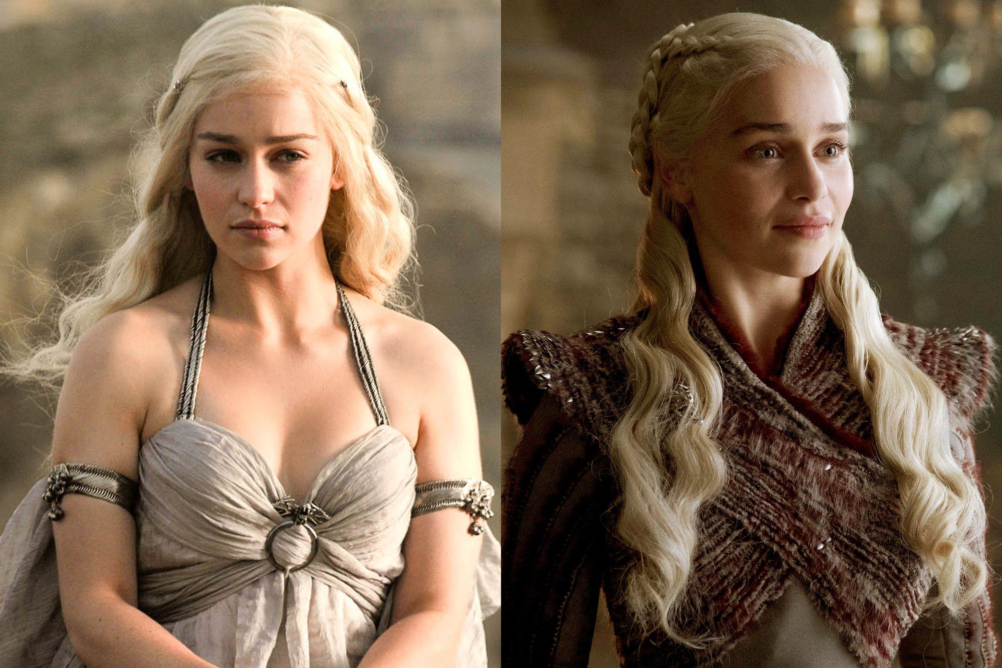 Emilia Clarke as Daenerys Targaryen Season One to Season Eight.