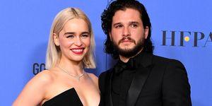 Emilia Clarke, Kit Harington,75th Annual Golden Globe Awards, Game of Thrones, eerste ontmoeting, vriendschap Emilia Clarke Kit Harington