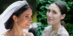 Emilia Wickstead vs Meghan Markle, bruidsjurk, copycat