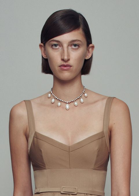 emilia wickstead spring 2021 pearl jewelry
