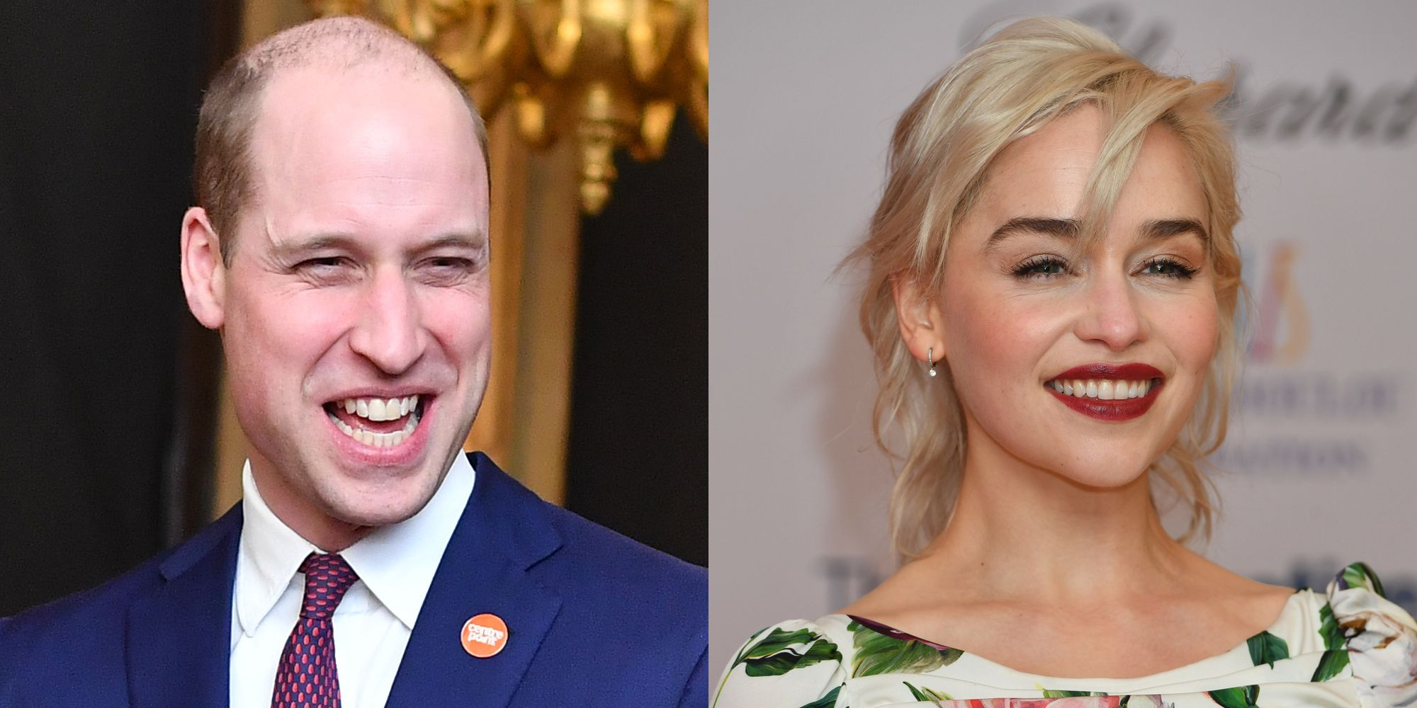 Prince William and Emilia Clarke