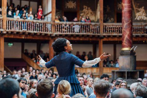 Performance of'Emilia' at Shakespeare's Globe Theatre