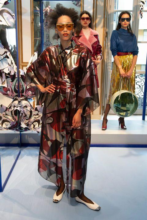 Clothing, Fashion, Kimono, Costume, Street fashion, Fashion design, Textile, Eyewear, Fashion show,