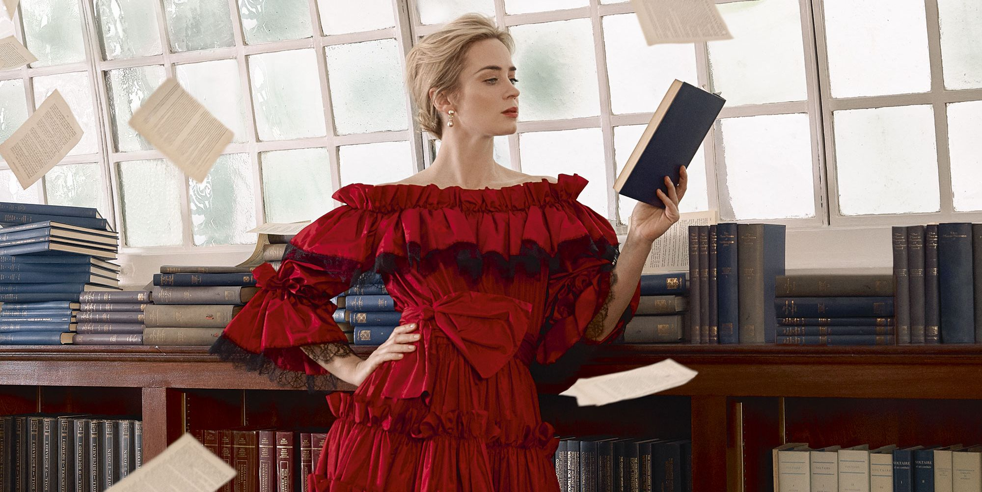 Emily Blunt in the January 2018 issue of Harper's Bazaar