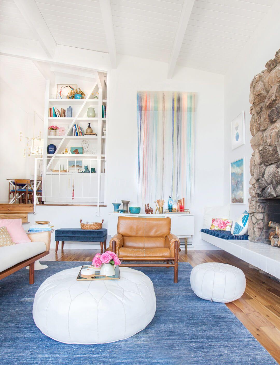 Modern living room White Courtesy Of Tessa Neustadt For Emily Henderson Designs Boho Meets Modern House Beautiful 10 Best Modern Living Room Design Ideas In 2018 Modern Living Room