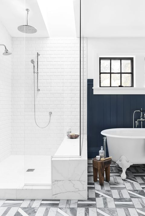 subway tile designs for bathrooms 10 best subway tile bathroom designs in 2018 subway tile 24297 | emily henderson portland traditional master bathroom1 1542392627.jpg?crop=0.826xw:1.00xh;0
