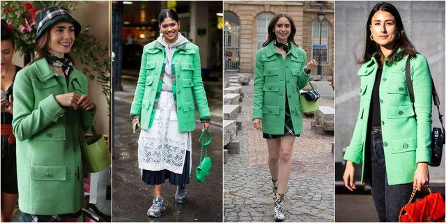 chaqueta verde emily in paris tendencia