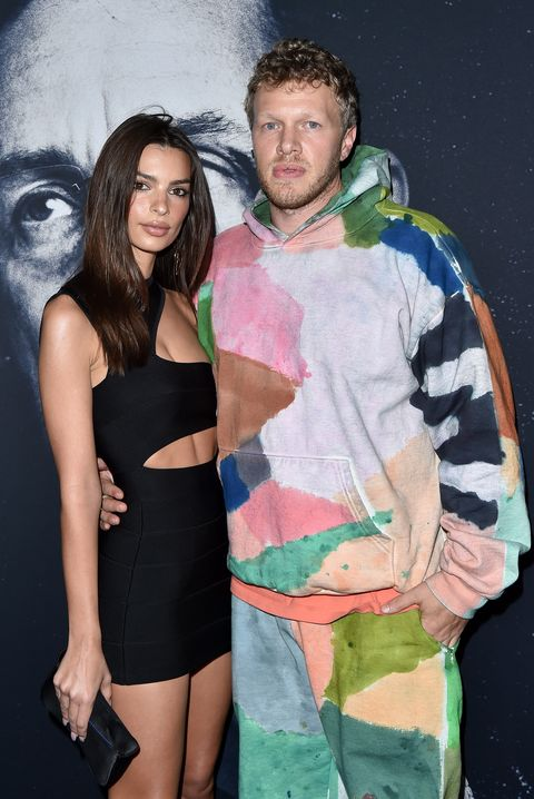 hollywood, california   december 11 emily ratajkowski and sebastian bear mcclard attend the premiere of a24s uncut gems at the dome at arclight hollywood on december 11, 2019 in hollywood, california photo by axellebauer griffinfilmmagic