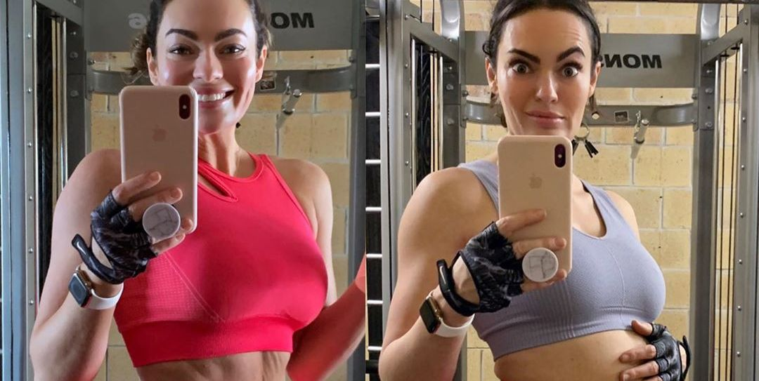 Fitness Influencer Emily Skye Proves Bloating Is Totally Normal in Side-By-Side Photos