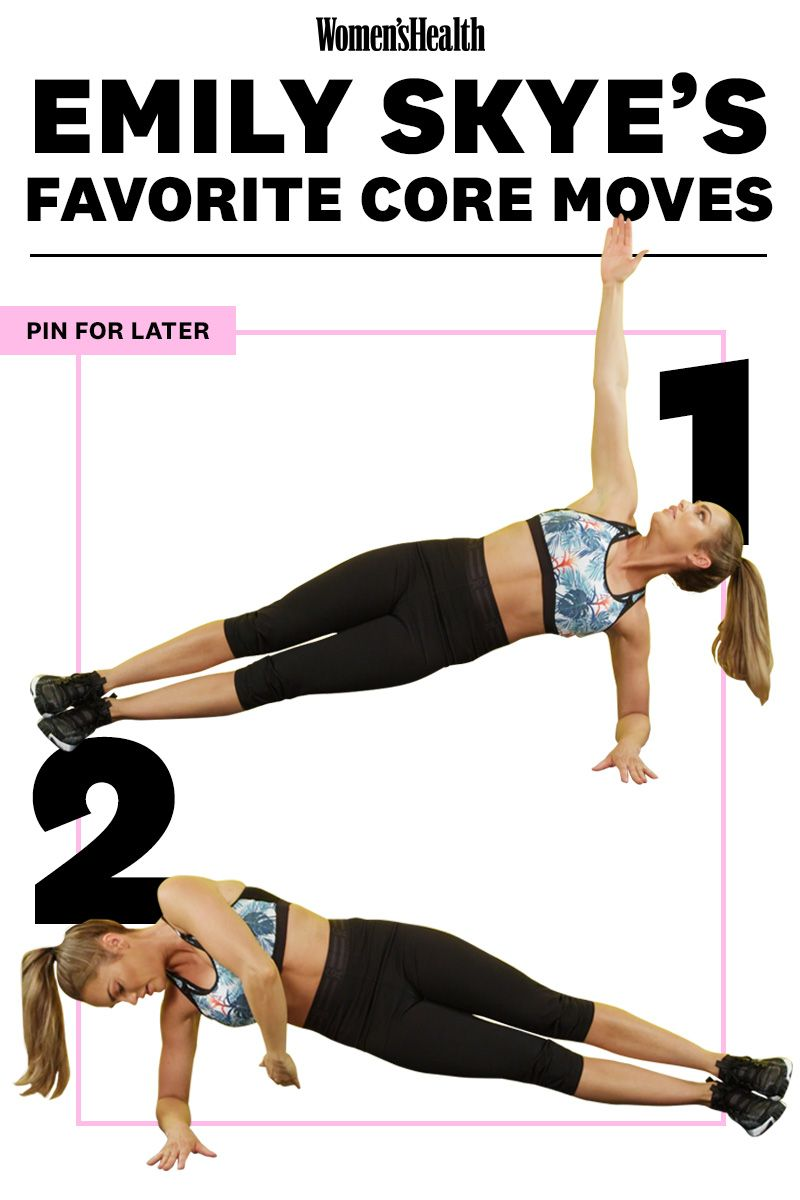 The 5-Move Abs Workout Emily Skye Swears By For Flat Abs