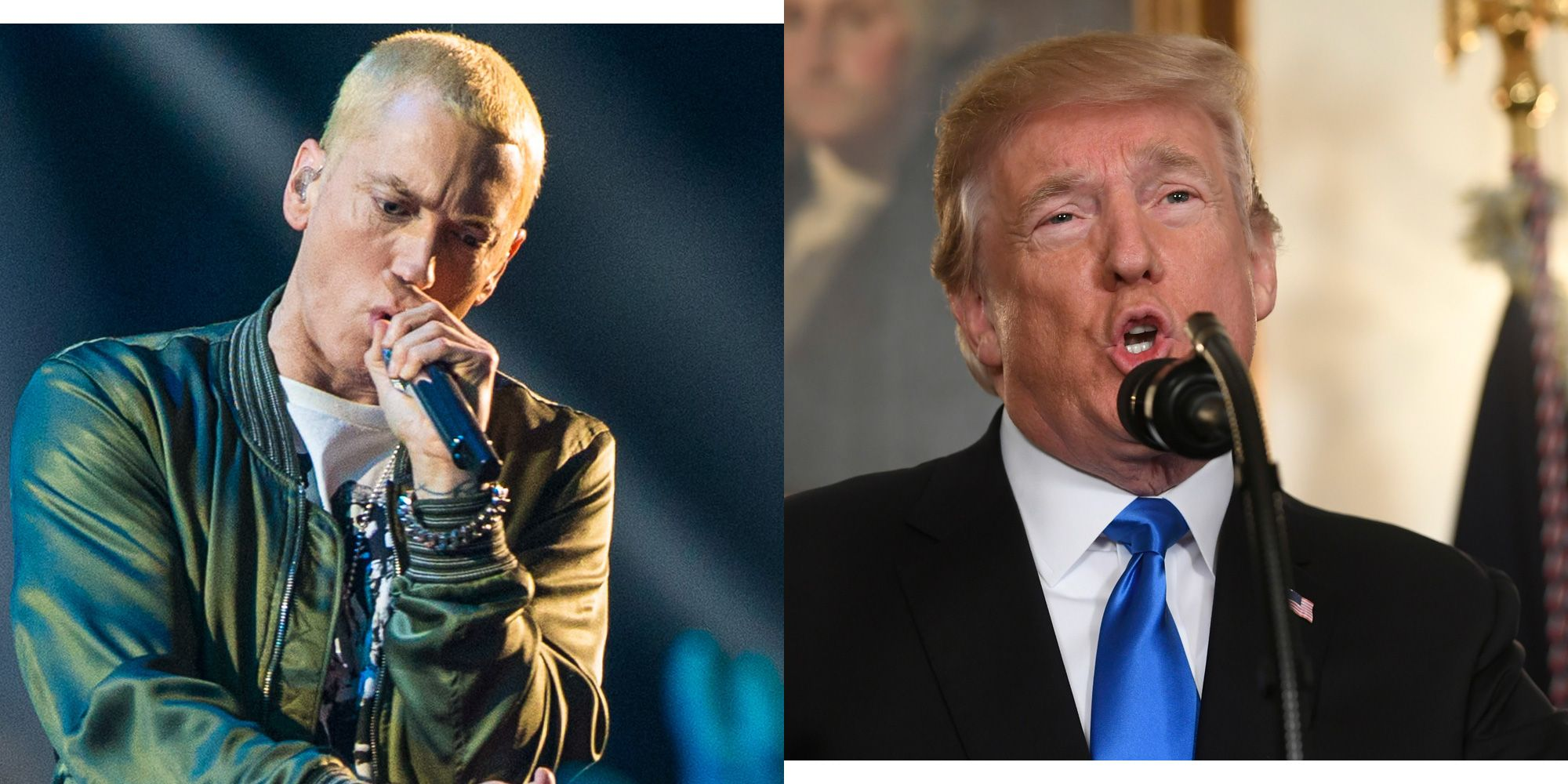 Eminem Continues His Verbal Assault on Donald Trump in a New Interview With Elton John