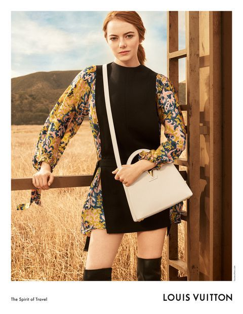 30bb78d3c98 Emma Stone's First Louis Vuitton Campaign - Emma Models Prefall ...