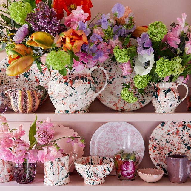 emma bridgewater bright splatter collection, exclusively at liberty, styled by bryony sheridan