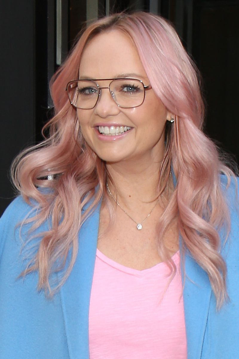 Emma Bunton Pink Hair - London Celebrity Sightings - February 27, 2019