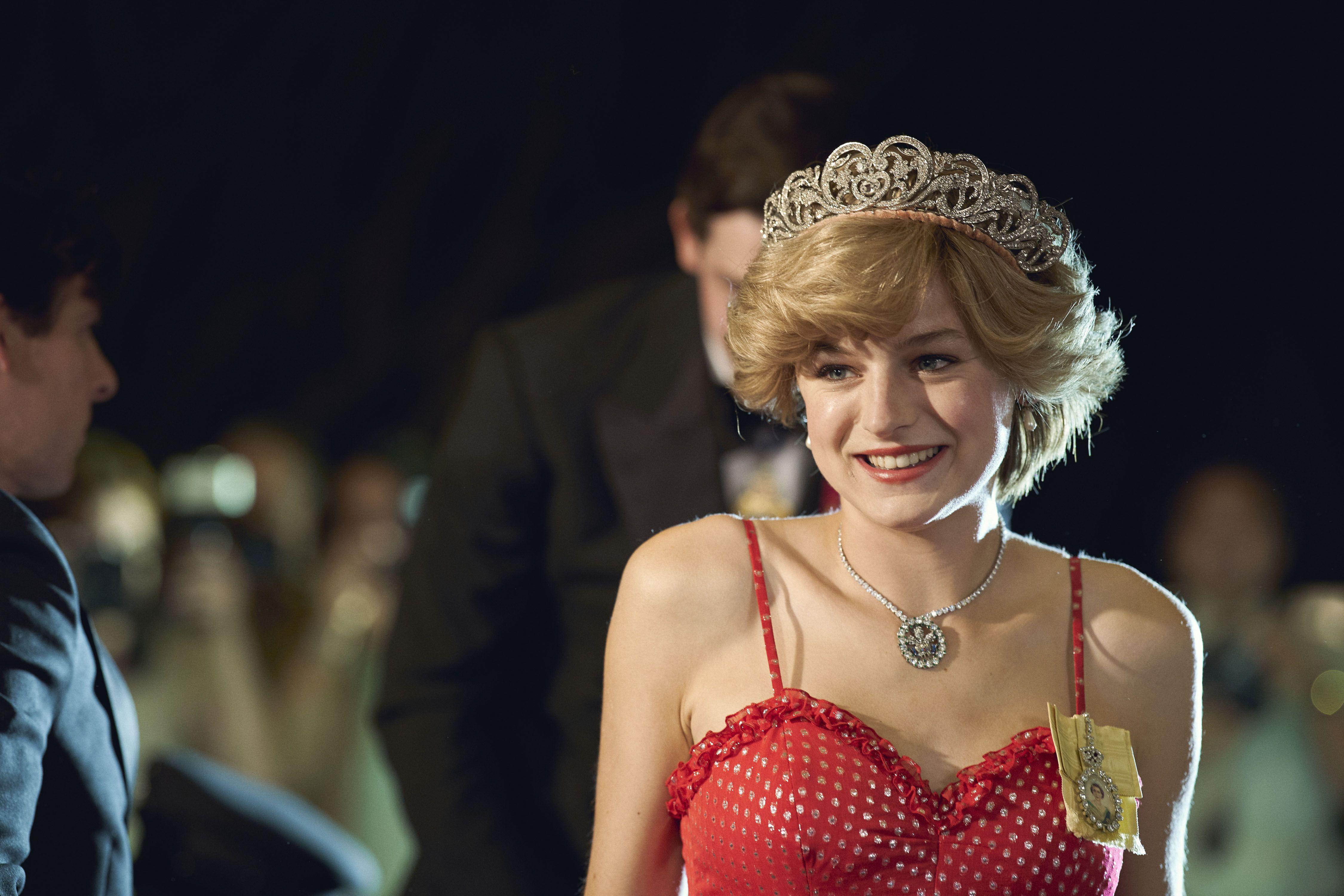Emma Corrin as Princess Diana in The Crown, Season 4