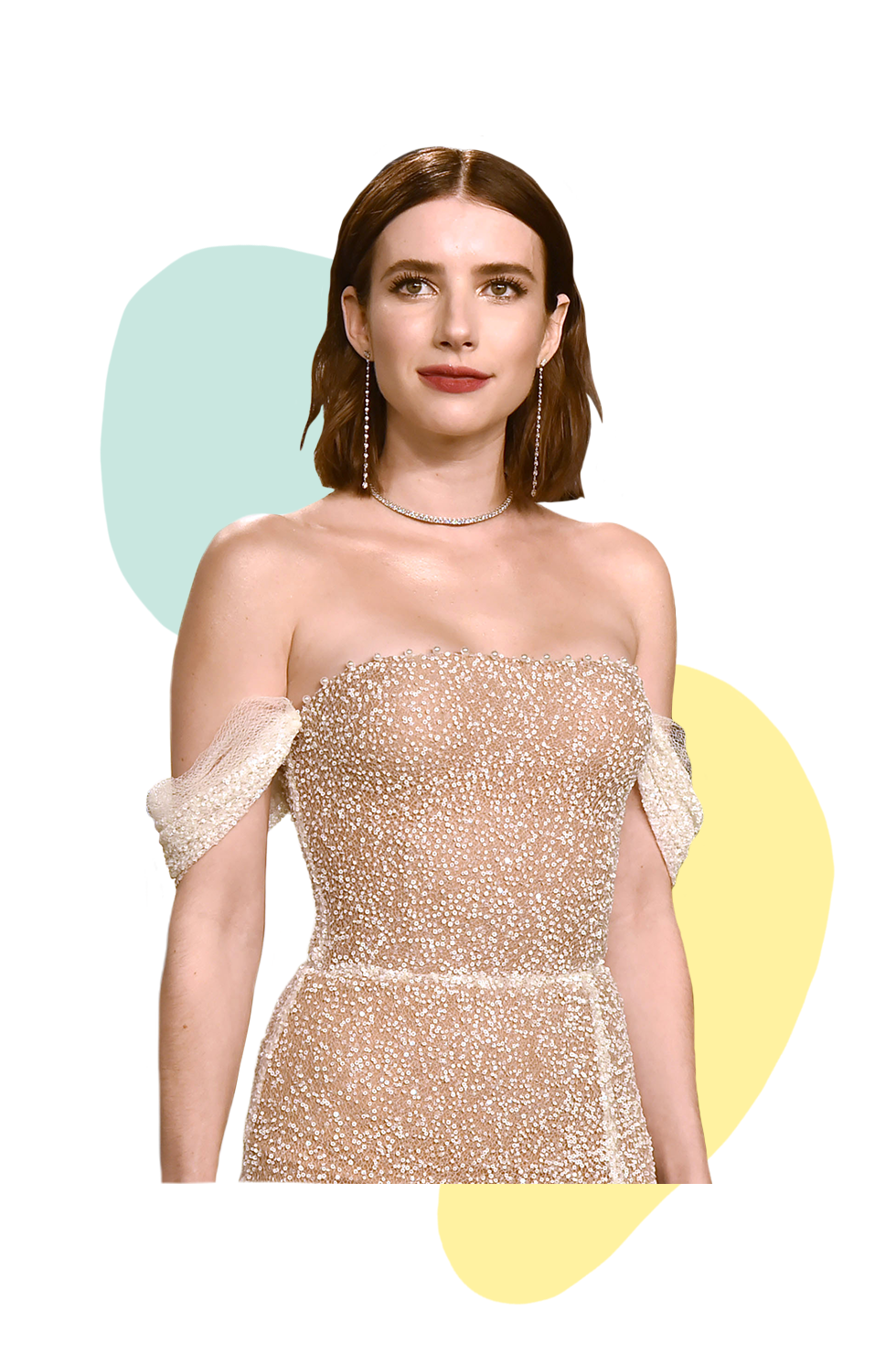 Emma Roberts Earlier this year, Us Weekly reported that Roberts extolled the virtues of her favorite Mazz Hanna CBD bath tonic on her Instagram stories, explaining it helps to soothe her entire body. Hanna, the celeb manicurist behind the new-age beauty brand, started incorporating CBD into products after finding relief when using it to combat long-term pain from a car accident.