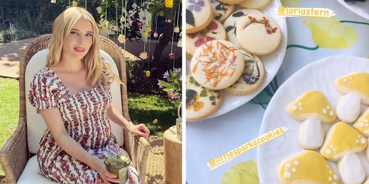 Emma Roberts Had a Garden-Themed Baby Shower With Kristen Stewart and 14 Other Guests