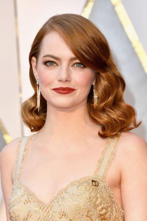 Emma Stone tijdens de Oscars 2017