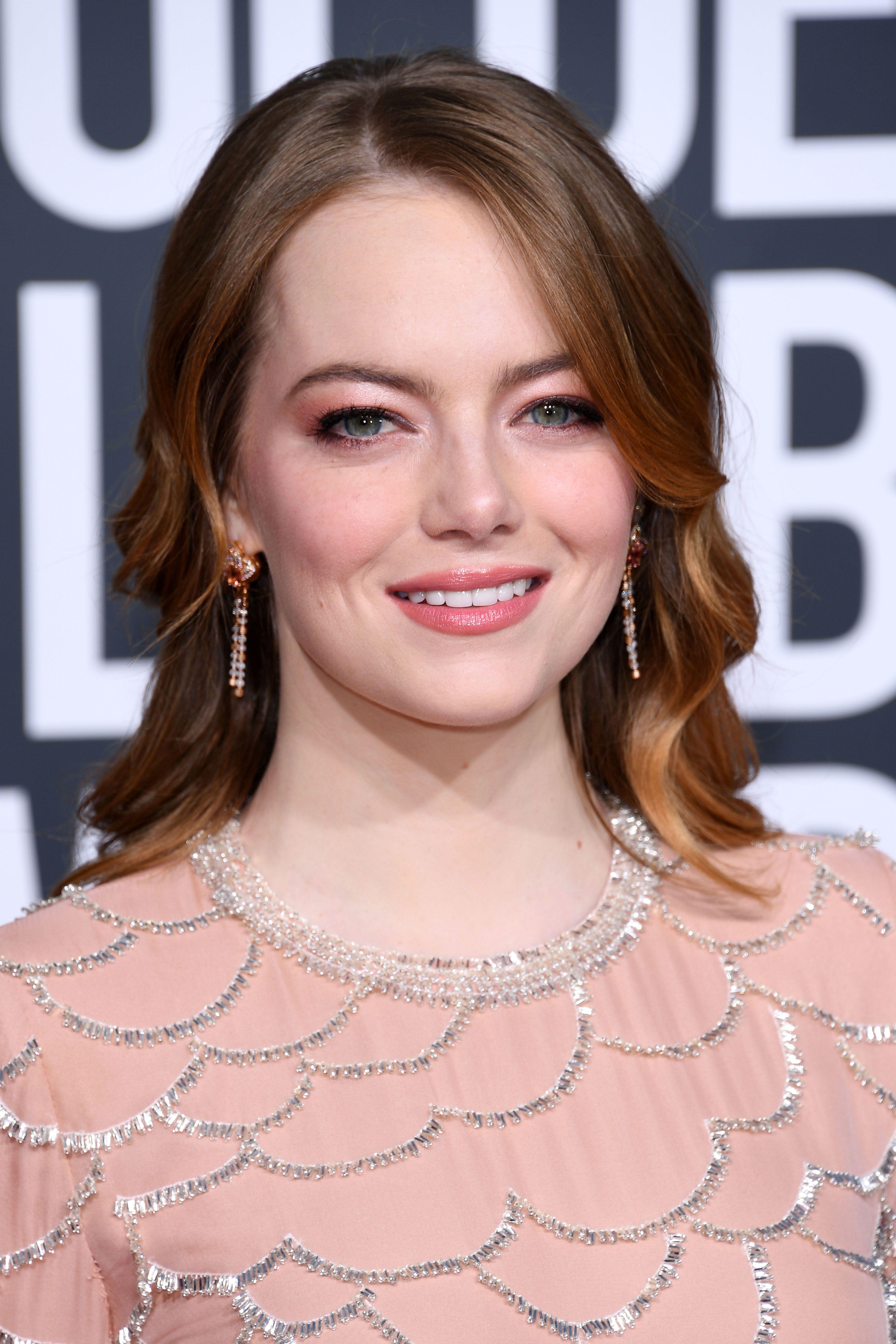 Emma Stone Makeup - 76th Annual Golden Globe Awards - Arrivals