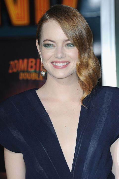 emma stone red hair with highlights