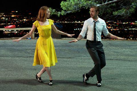 Emma Stone yellow dress
