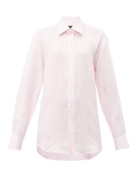 emma willis pink linen shirt
