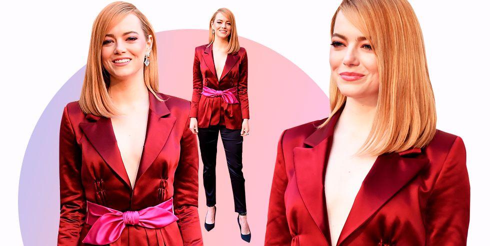 Emma Stone Pants To The 2018 Oscars Emma Stone Academy Awards Red Carpet