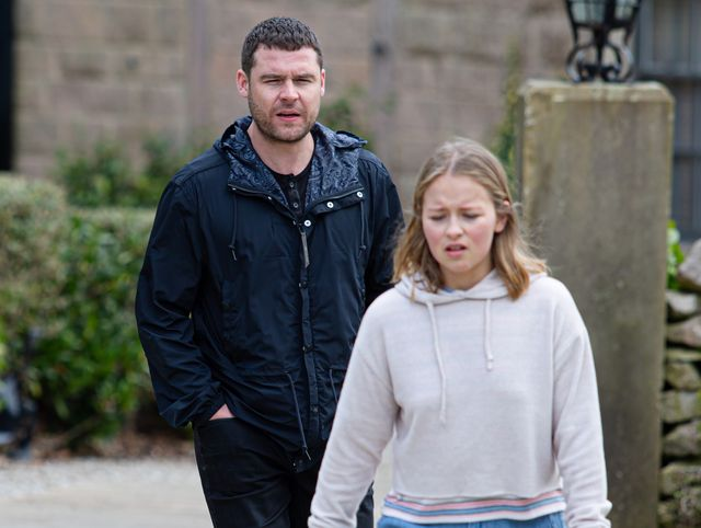 aaron dingle and liv flaherty in emmerdale