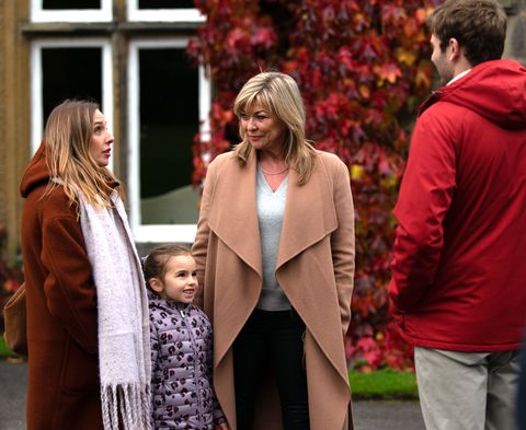 Andrea, Millie, Kim and Jamie Tate in Emmerdale